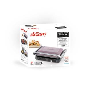 AR2028 Tostçu Delux Grill and Sandwich Maker - Dreamline - Thumbnail