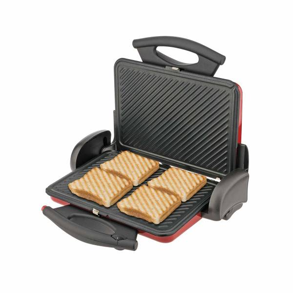 AR286 Prego Red Grill and Sandwich Maker - Red