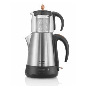 - AR3003 Çaycı Klasik Cam Çay Makinesi - Mat Inox