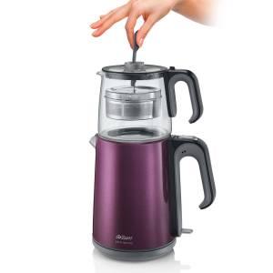AR3031 Çaycı Heptaze Çay Makinesi - Mürdüm - Thumbnail