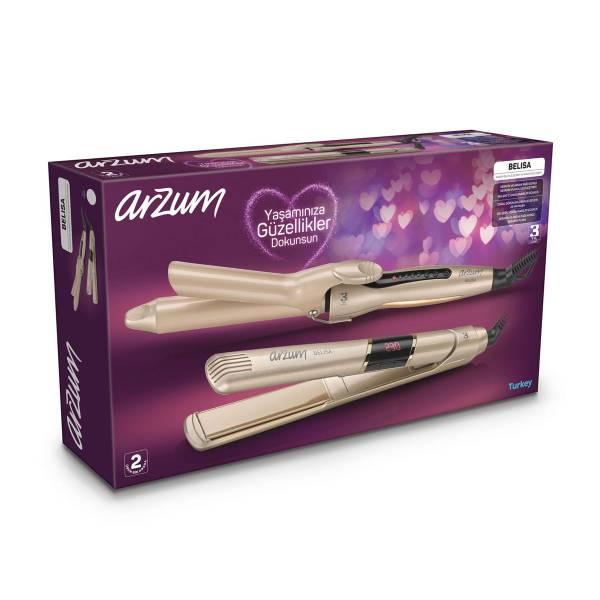 AR5024-AR5033 Belisa Hair Straightener - Hair Curler - Sand Beige