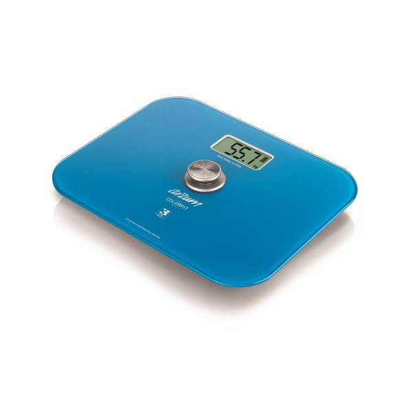 AR5034 Colorfit Eco - Friendly Glass Bathroom Scale - Blue