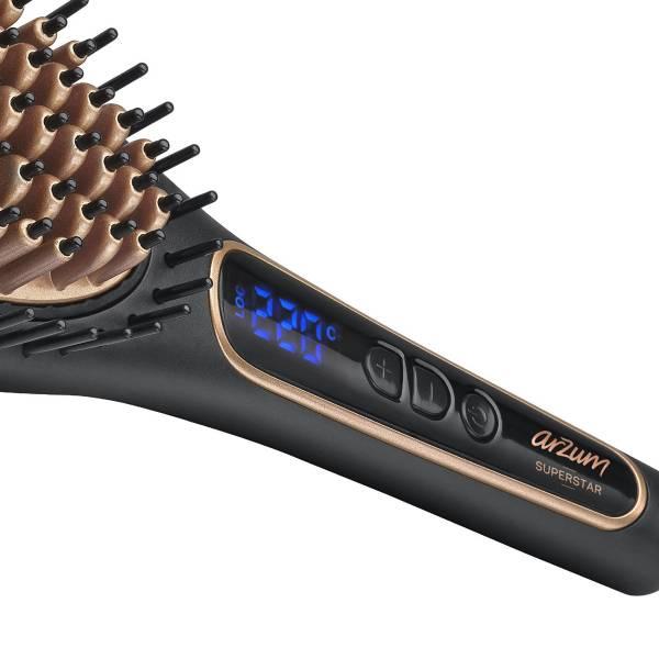 AR5036 Superstar Saç Düzleştirici Fırça - Siyah
