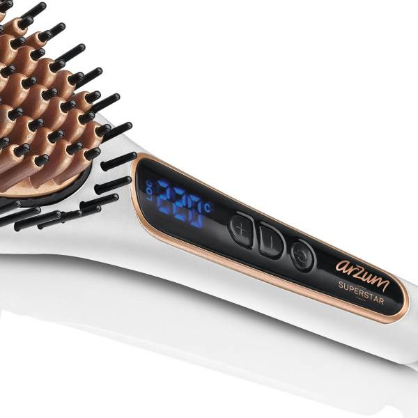 AR5041 Superstar Pearl Hair Straightening Brush - Pearl