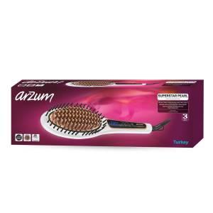 AR5041 Superstar Pearl Saç Düzleştirici Fırça - İnci - Thumbnail
