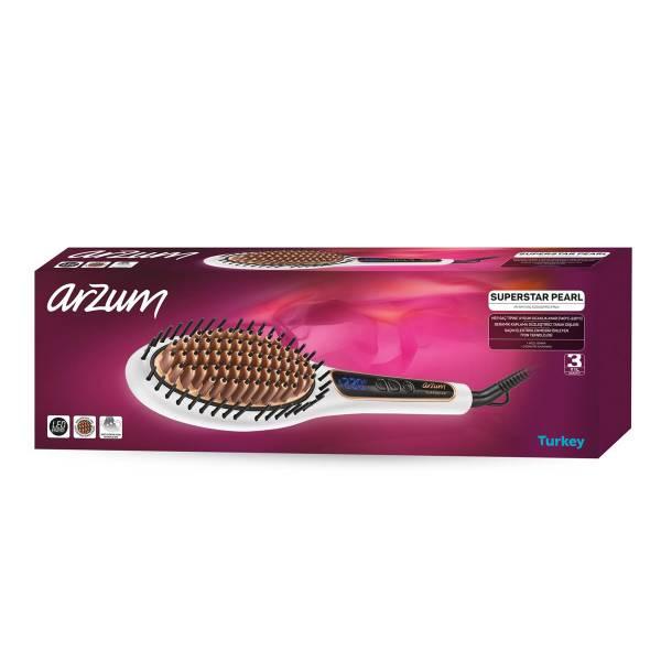 AR5041 Superstar Pearl Saç Düzleştirici Fırça - İnci