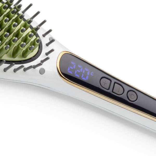 AR5054 Superstar Pearl Effect Hair Straightening Brush - Pearl