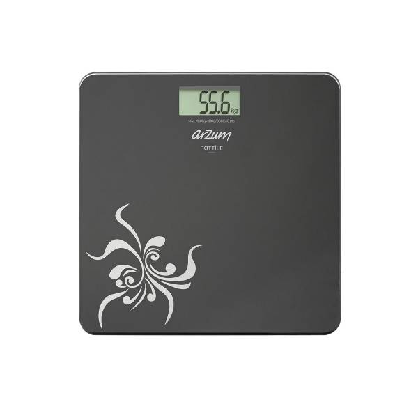 AR550 Sottile Digital Glass Bathroom Scale - Black