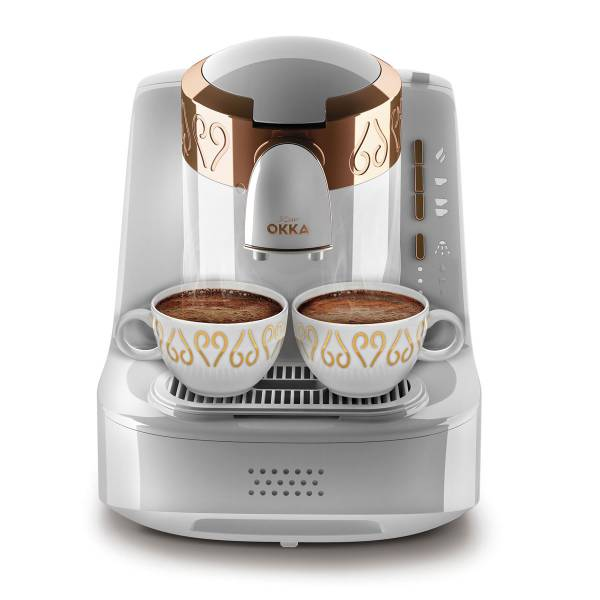 OK001 OKKA Türk Kahve Makinası - Beyaz