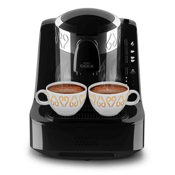 OK002 OKKA Türk Kahve Makinesi - Krom - Siyah