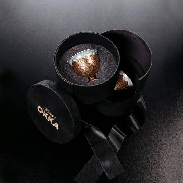 OK905 OKKA İsmail Acar Coffee Cup Set of Two - White