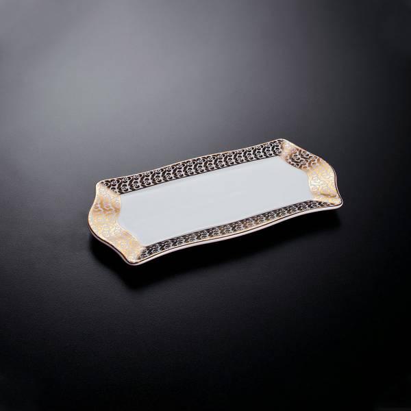 OK906 OKKA İsmail Acar 2'Li Fincan Ve Küçük Tepsi Set - Beyaz